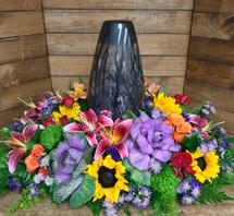 """""""Vivid Summer Garden"""" Urn Adornment"""