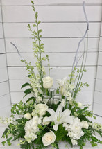 """Stylish Crystal Cross"" Arrangement"