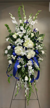 Royal Blue and White Beautiful Large Garden Easel