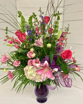 Gorgeous Pink and Purple Garden Vase