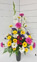 Pretty Fresh Spring Cemetery Vase