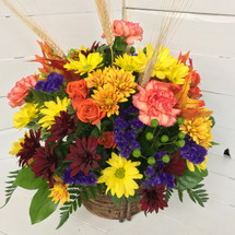 Pretty Autumn Centerpiece Basket