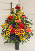 Fresh Fall Cemetery Vase