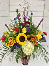 Big Fresh Fall Mixed Vase