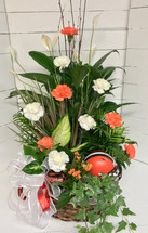 Large Planter with NFL Helmet and matching fresh