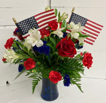 Red, White, and Bluetiful Little Vase