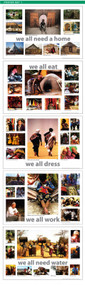 Poster Set 1  Features: home, water, eat, dress, work.   All 5 posters in the set are included in one tube.  Poster size 36'' x 24''.
