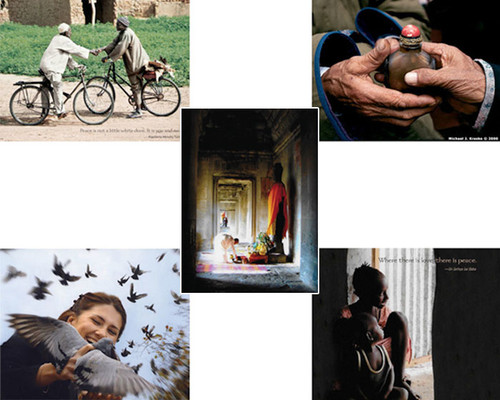 The Peace Cards Combined Set has been updated to include 2 each of 5 Peace Cards (and 10 envelopes) for $8.00. The newest Peace Card features a photo from Cambodia.