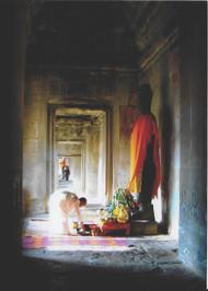 Peace Card 5–Cambodia  Offerings.  Photo © 2020 Amber Brooke Davis; the International Calendar Project
