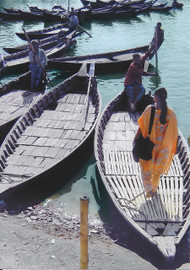Bangladesh  Bangladesh water taxis.  Photo © 1995  Maura J. Fulton; The International Calendar Project