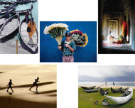 The new Combo Set AA includes 2 each of 5 notecards (2 Mexico Notecards, 2 Bangladesh Notecards, 2 Madagascar Boats Notecards, 2 Cambodia Peace Cards, and 2 Lesotho Runners Notecards)—a total of 10 cards (with envelopes) for $8.00.