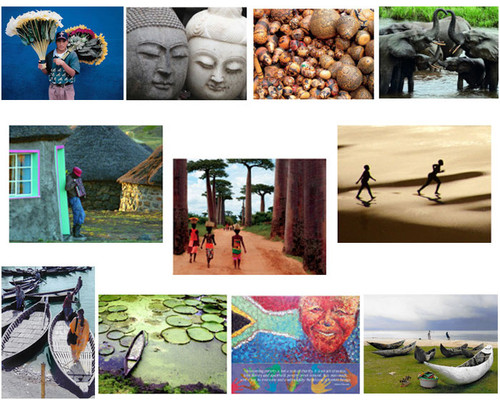 You'll be pleasantly surprised by this collection of 10 different and compelling notecards, chosen at random from among all our international notecards.
