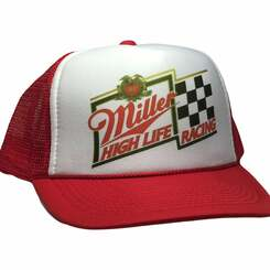 Miller Beer Racing Trucker Hat
