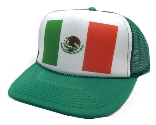 7b57a37aba5d4 Mexico Flag Trucker Hat Mesh Hat Snapback Hat