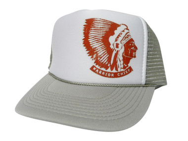 As shown in photo then color of the hat . ex.Grey/white front