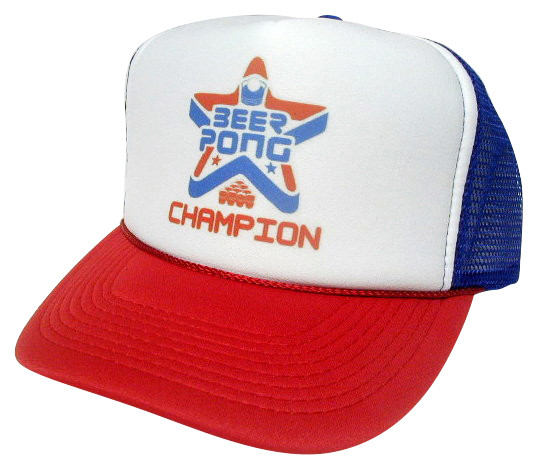 83bc0584e000e Beer Pong Champion Trucker Hat Mesh Hat Snapback Hat. Price   11.99. As  shown in photo red white blue