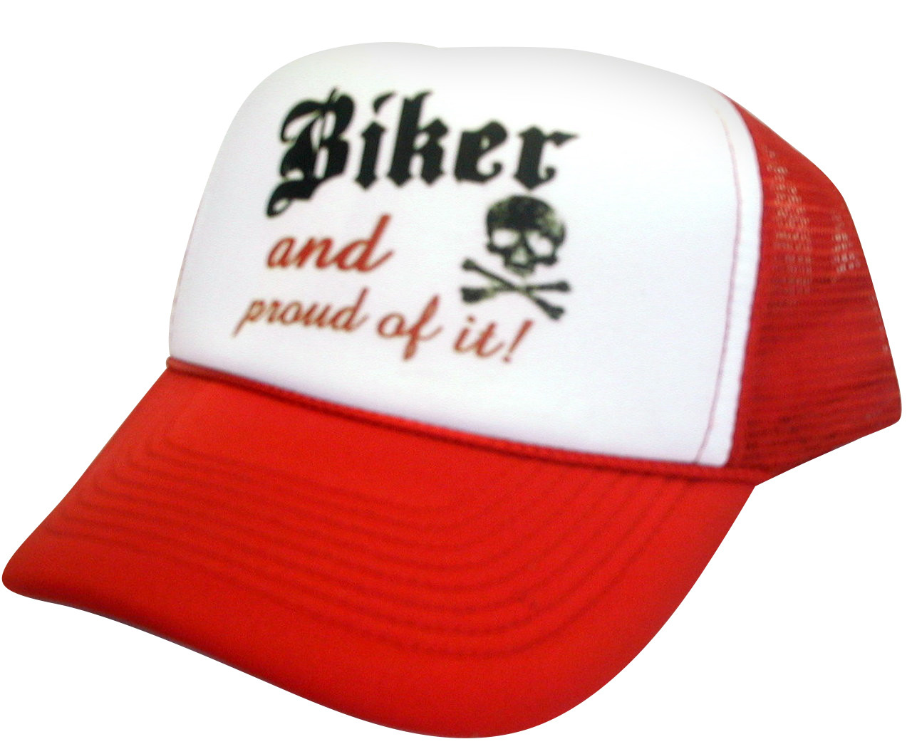 Biker and Proud of It Trucker Hat e818fd04f6e