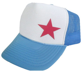 As shown in photo Columbia blue/white front