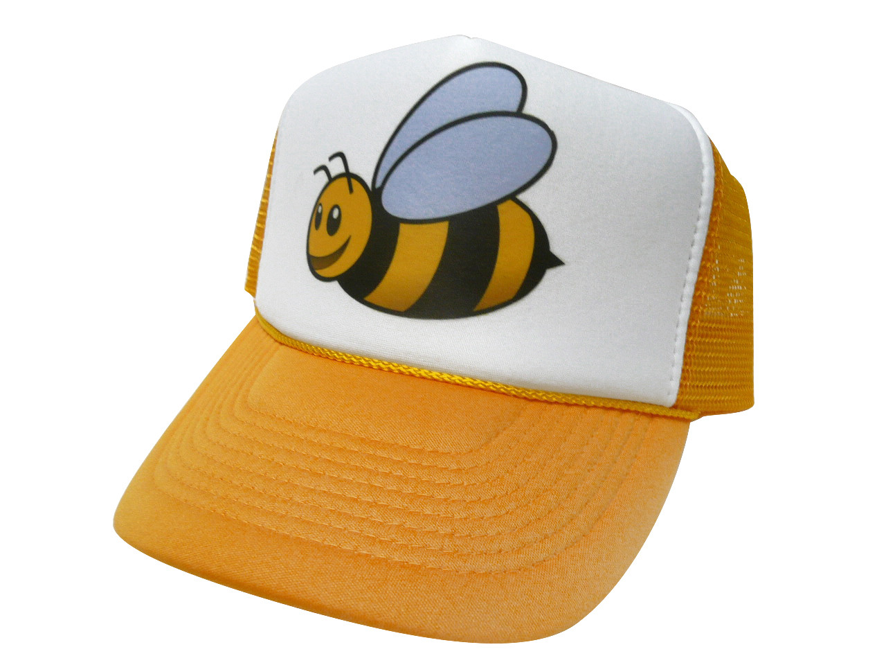Bumble Bee Trucker Hat. Price   11.99. As shown in photo yellow white front 0caeb252d26