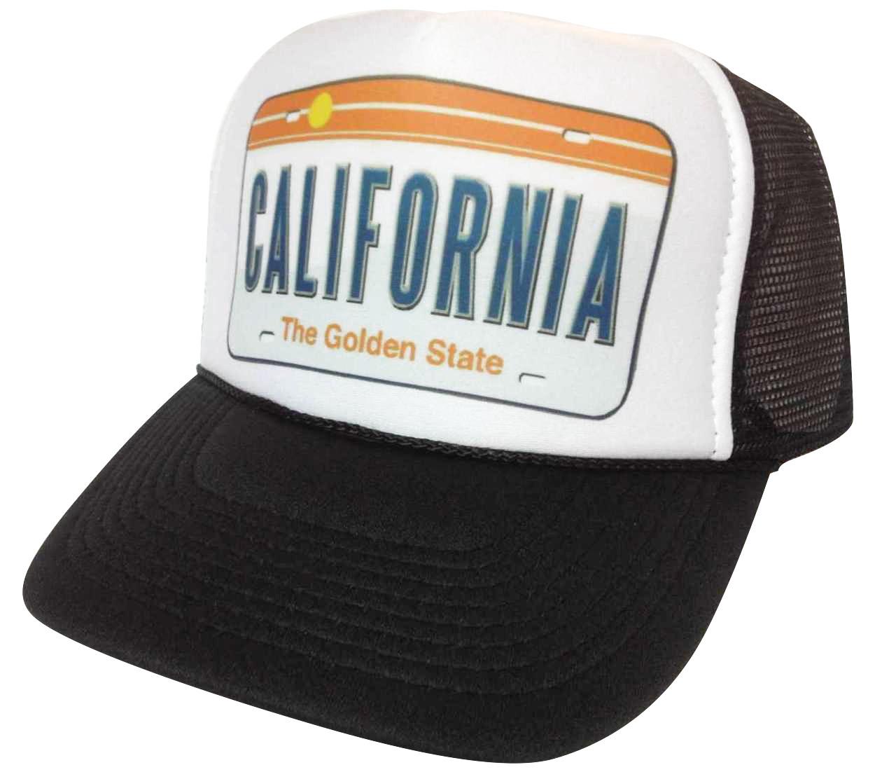 California License plate Trucker Hat Mesh Hat Snapback Hat