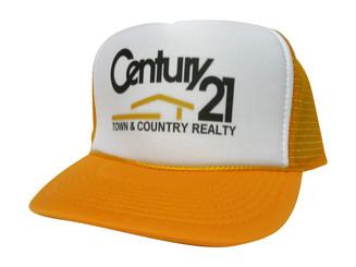 Vintage Century 21 Trucker Hat Mesh Hat Snapback Hat