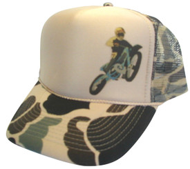 As shown in photo then color of the hat camo/tan front