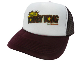 As shown in photo then color of the hat Maroon/white front
