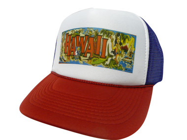 As shown in photo then color of the hat . ex.Red/white front/Blue