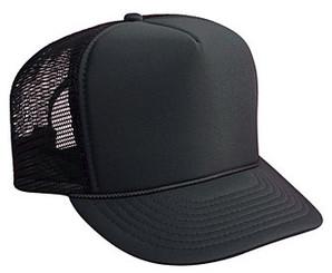 SOLID BLACK MESH plain Trucker Hat Mesh Hat Snapback Hat