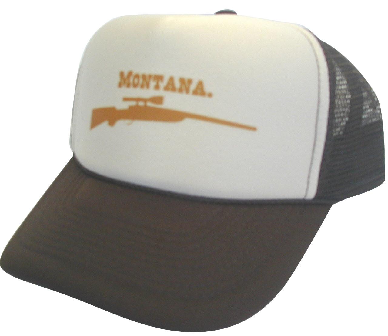 Montana Gun Trucker Hat Mesh Hat Snapback Hat
