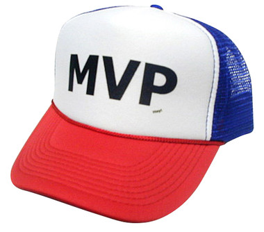 As shown in photo then color of the hat . ex. Red/white front/Blue
