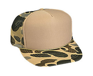Camoflage Tan Front Trucker Hat Mesh Hat Snapback Hat