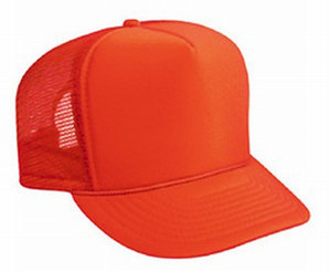 Neon Orange plain blank Trucker Hat Mesh Hat Snapback Hat