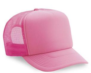 Neon Pink plain blank Trucker Hat Mesh Hat Snapback Hat