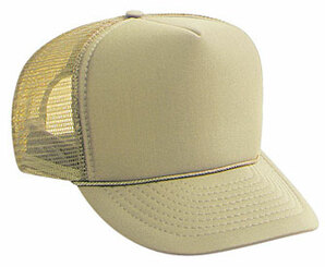 Khaki Plain Blank Trucker Hat, Mesh Hat, Snapback Hat