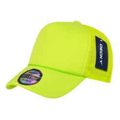 Neon Yellow Blank Trucker Hat mesh hat snap back hat