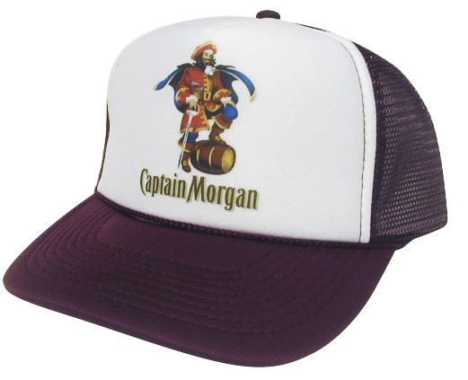 b4a5a1f179e9d Captain Morgan As shown in photo then color of the hat . ex. Maroon