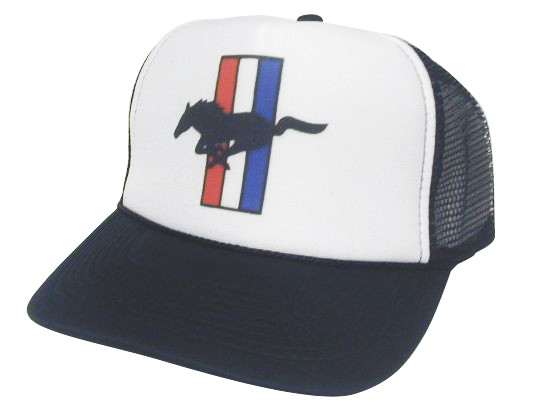 98dcbafbda2ec Ford Mustang Trucker Hat Mesh Hat Snapback Hat. Price   11.99. As shown in  photo Black White front