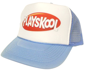 As shown in photo then color of the hat . ex. columbia blue/white