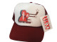 As shown in photo Maroon/white