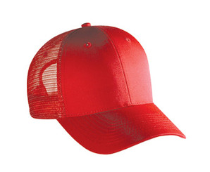 Red Low profile Trucker Hat mesh hat snap back hat