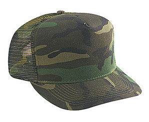 Woodland Camouflage Low Crown Trucker Hat Mesh Hat Snapback Hat