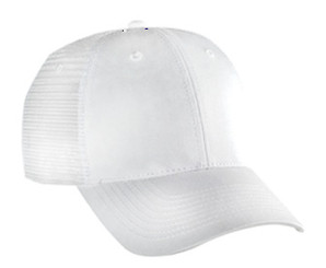 White 6 panel low profile Trucker Hat Mesh Hat Snapback Hat