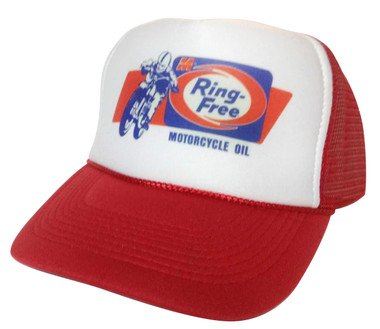 As shown in photo then color of the hat . ex. Red/white front
