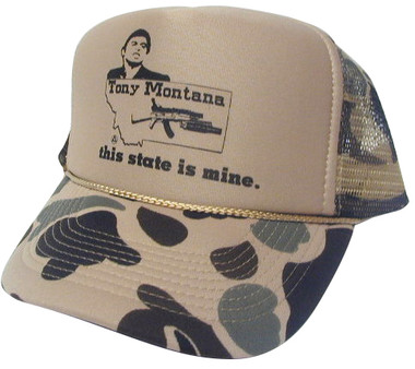 As shown in photo then color of the hat . ex. Camo/Brown front