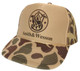 As shown in photo then color of the hat . ex.Camo/Brown front