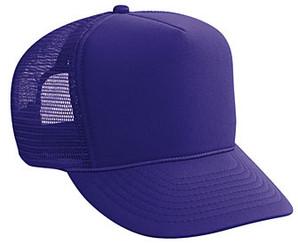 Purple plain blank Trucker Hat Mesh Hat Snapback Hat