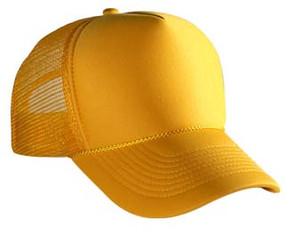 Yellow plain blank Trucker Hat Mesh Hat Snapback Hat