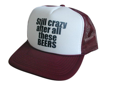 As shown in photo then color of the hat . ex. Maroon/white front