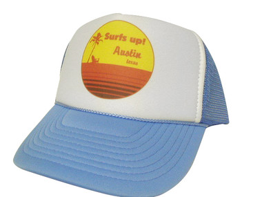 As shown in photo then color of the hat . ex.Blue/white front